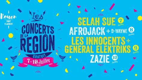 les concerts de la région 2016